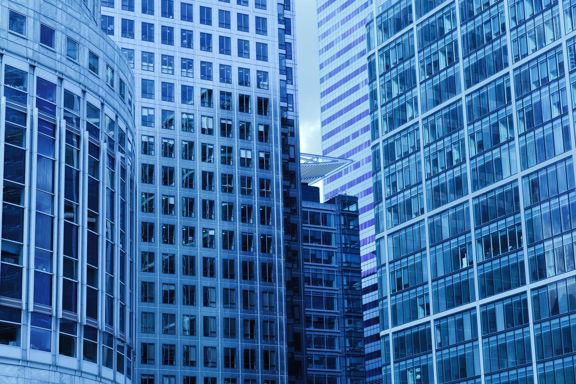 企業研究者が働いている建物のイメージ