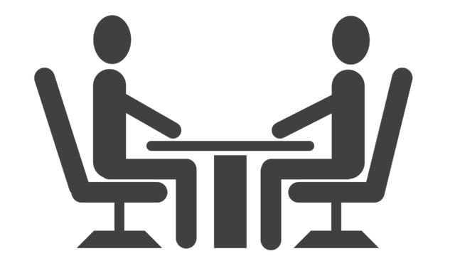 研究室配属の為に面接する教授と学生