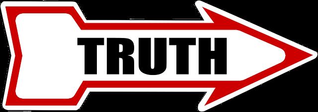 真実を示す看板