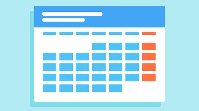 就活のスケジュールが記載されているカレンダー図