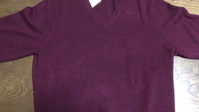 ユニクロのカシミヤセーターの写真