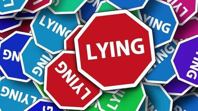 嘘つきを表すイメージ図