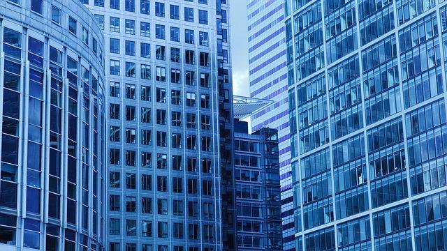 大手企業がいくつも入っている超高層ビル