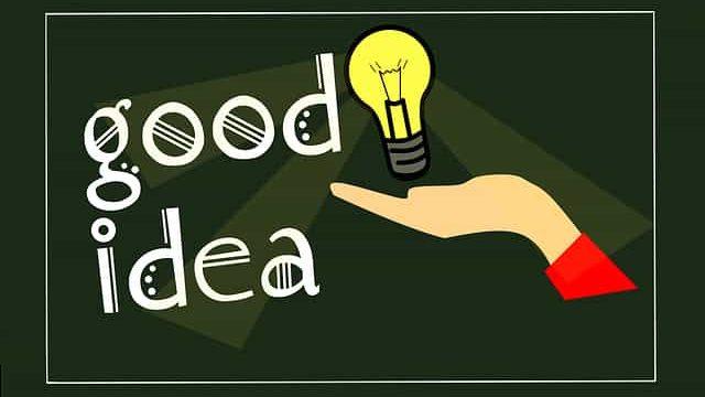 良いアイデアを閃いた人のイメージ図