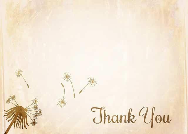 「ありがとう」の意を示す画像