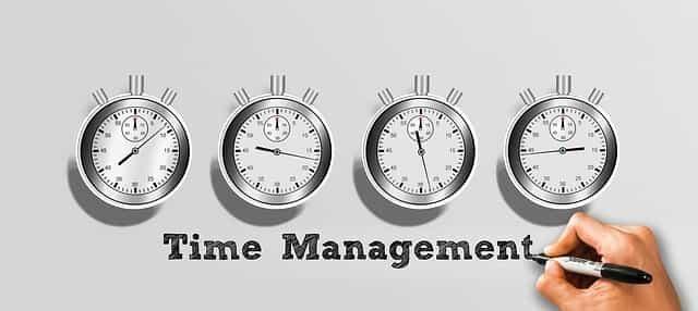 時間管理を意識している理系学生のイメージ図